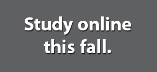 Study online this fall.