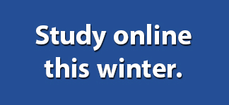 Study online this winter.