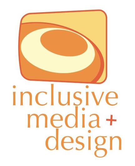 Inclusive Media + Design logo as a bronze sponsor.