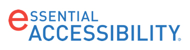 eSSENTIAL ACCESSIBILITY logo as a gold sponsor.